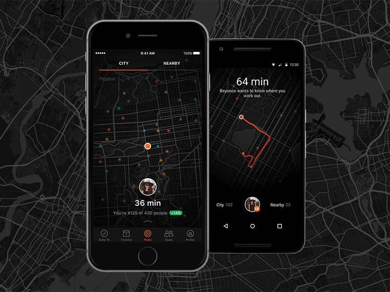 Aplicativos de corrida. Human - Activity tracker